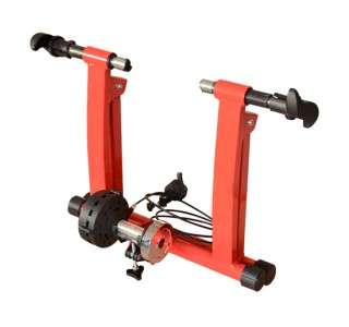 New Red Magnetic Bicycle Bike Trainer Stand Indoor Kinetic Stationary