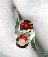 2ct. Montana Dual Ruby Red Garnet Silver Ring sz 7 VVS
