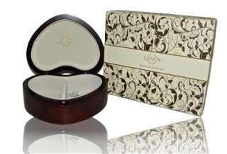 NEW LENOX LOVE HEART JEWELRY BOX FOR BRACELET NECKLACE