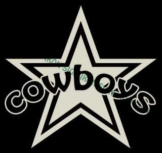DALLAS COWBOYS STAR CUSTOM Vinyl Decal Sticker |