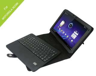 Bluetooth Keyboard + Leather Case Cover for Motorola Xoom Tablet   NEW
