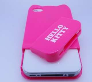 Kitty Bow Logo Hard Case Cover For iPhone 4 / 4gs + Protector
