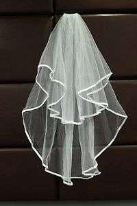ivory 2 Tier 2T Bride Bridal Wedding Veil with Comb Bridal Accessories