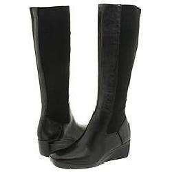 Nine West Slim Black Leather Knee High Boot