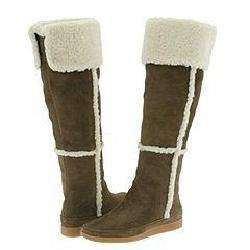 Michael Kors Fairbanks Shearling Boot Taupe Suede