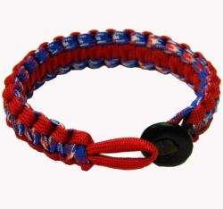 Red, White, Blue Flag Paracord Bracelet