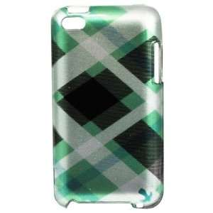 APPLE IPOD TOUCH 4 PROTECTOR CASE   GREEN PASTEL CHECKERS