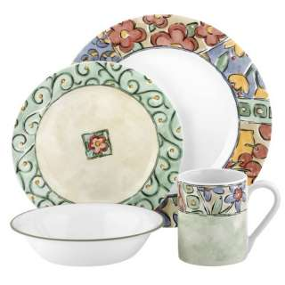 Corelle Watercolors 16pc Dinnerware Set