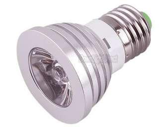 E27 / GU10 Remote Control 16 Multi colors RGB LED Light Bulb lamp 3W