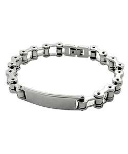 Stainless Steel Motorcycle Chain Bracelet with Name plate (Case of 2