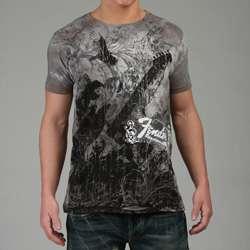 Fender Mens Charcoal Eagle Print T shirt