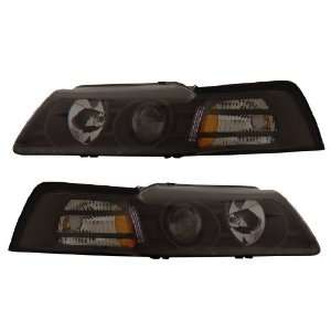 FORD MUSTANG 99 04 PROJECTOR HEADLIGHT SMOKE CLEAR AMBER