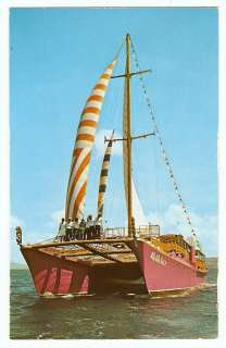 HAWAII Cruise Ship Charter Sail Boat ALE ALE KAI V VINTAGE 1960s
