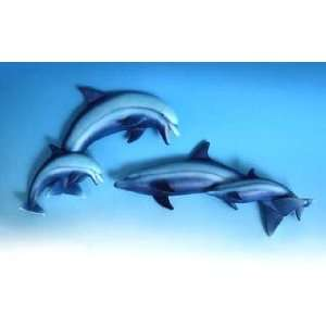 DOLPHIN tropical fish WALL ART plaque home decor