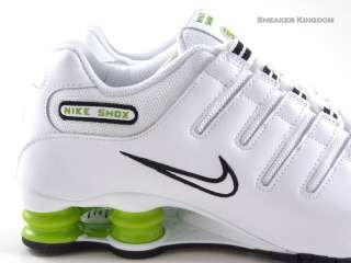 Nike Shox NZ White/Lime Green/Black Running Men Shoes