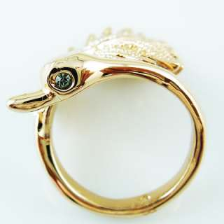 Bird Silver 18K rose Gold Plated cocktail ring R216