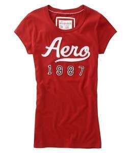 AEROPOSTALE NWT Juniors Cloth Logo Tee Shirt Small $24