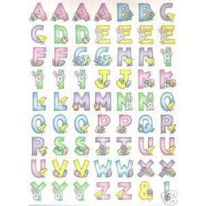 Bearypatch Beary Cute Alphabet Sticker Sheet Easter Home