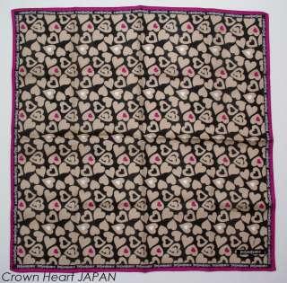 Laurent Handkerchief / Mini Scarf Heart camel black Japan Limited