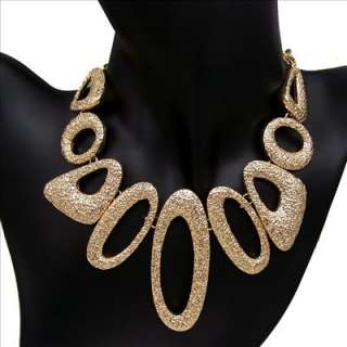 antique style jewellery gold plated chunky ring choker necklace