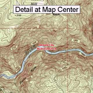 USGS Topographic Quadrangle Map   Nevada City, California (Folded