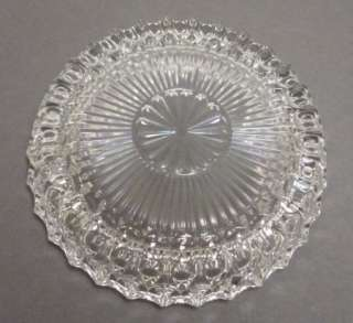 Vintage Clear Glass Thick Round Ashtray