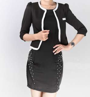 Fashion Womens Lady OL Style Puff Bracelet sleeve small suit Blazer