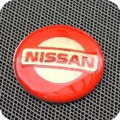2918rdb1f1 nissan 56mm 5.6cm red silver center wheel hub cap aluminium