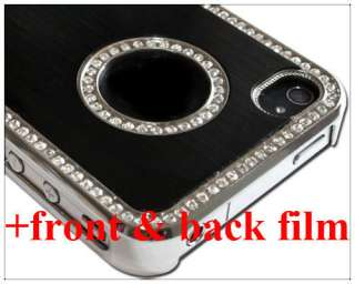 Rhinestone Hard Case Cover iPhone 4 4S full screen protector