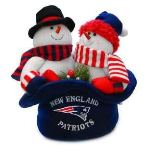 12 NFL New England Patriots Snowmen Top Hat Table Christmas
