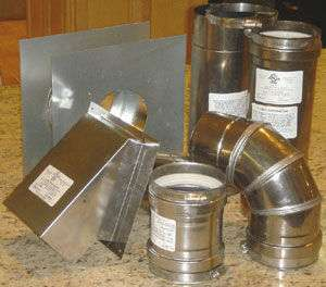 Horizontal Vent Kit 4 Inch Diameter Stainless Steel
