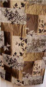SHOWER CURTAIN CROSCILL LANCASTER BLACK BROWN TAN