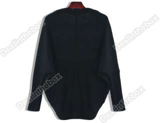 Lady Womens Batwing Cape Poncho Knit Top Outwear Cardigan Sweater