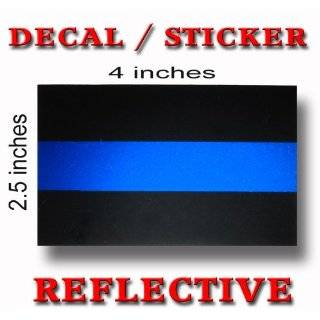 Thin Blue Line Police Sheriff Car Decal / Sticker   Blue