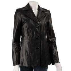 Jones New York Womens Leather Blazer