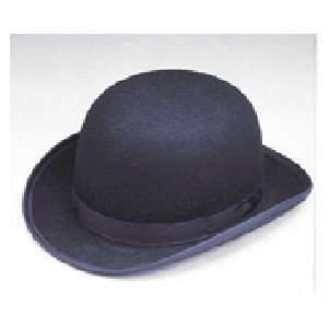 New Black Blended Wool Derby Hat