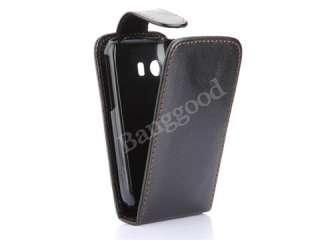 Flip PU Leather Case Pouch Cover Skin For Samsung Galaxy Y S5360 BLACK