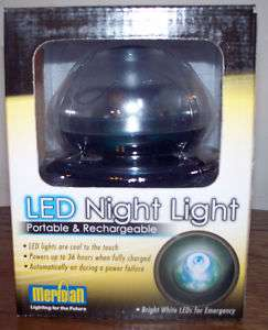 Meridian LED NIGHT LIGHT   Portable & Rechargeable