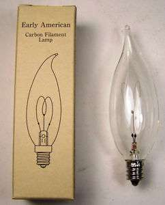 Reproduction 15 Wt Carbon Filament Chandelier Lightbulb