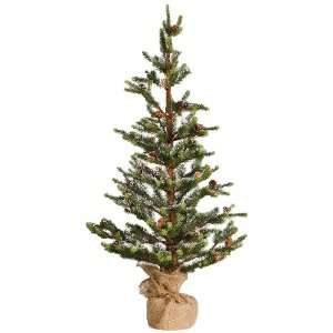 Good Tidings 538XT03033C Charlie Brown Tabletop Tree with Snow Burlap