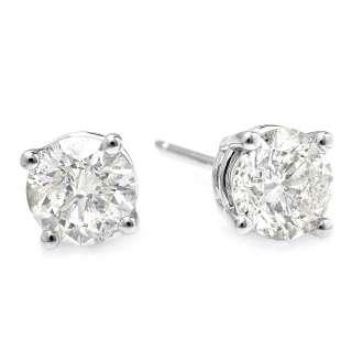 14850 CERTIFIED 14K WHITE GOLD 1.70CT DIAMOND EARRINGS