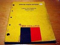 New Holland 975 Combine Parts Manual NH OEM 1968