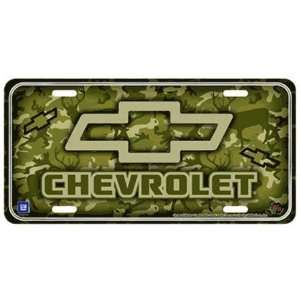 Chevy Logo Camo Metal License Plate 6 X 12 Racing Reflections: