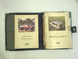 1999 Land Rover Discovery II Owners Manual Owners Guide Book Set 99