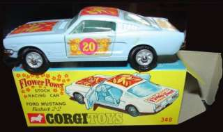 CORGI #348 FLOWER POWER STOCK RACING CAR FORD MUSTANG FASTBACK 2+2 MIB
