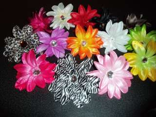 TROPICAL daisy FLOWER craft WEDDING bridal HAIR LEOPARD ZEBRA