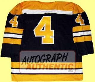 Autographed Bobby Orr Boston Bruins Jersey (black)