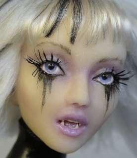 OOAK Goth Vampire Fairy, Art Doll Sculpture, Barbara Kee OAD IADR