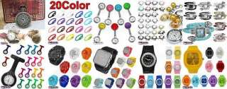 Silicone Rubber Jelly Ion Sports Bracelet Wrist Watch