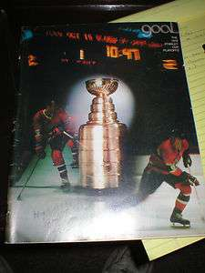 1978 STANLEY CUP PROGRAM PLAYOFFS NHL BOSTON BRUINS
